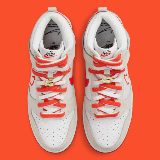 """This Muted Nike Dunk High """"First Use"""" Features Bright Orange Accents"""