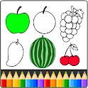 Fruits and Vegetables Coloring game for kids icon