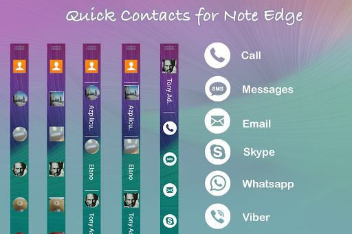 Quick Contacts for Note Edge