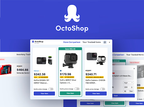 OctoShop - In-Stock Alerts and Compare Prices