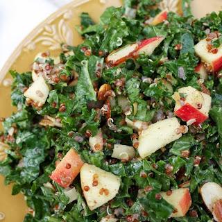 Kale Quinoa Apple Salad with Maple Almond Vinaigrette