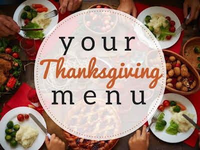 Your Thanksgiving Menu