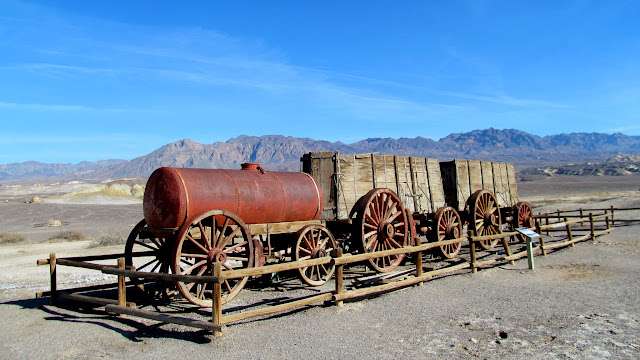 Wagon train at the Harmony Borax Works