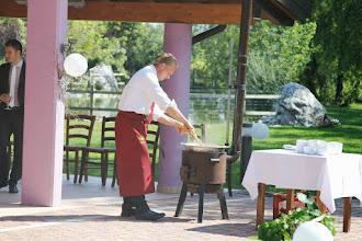 Photo: Donatello prepara la polenta
