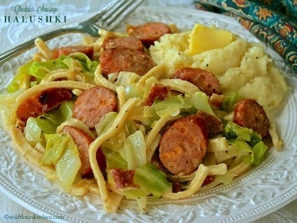 Bacon & Cheddar Sausage Halushki Recipe