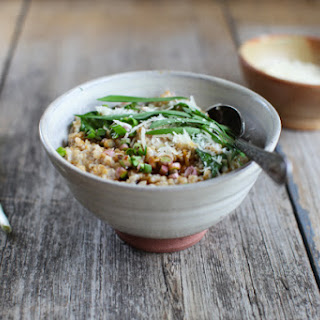 Savoury Steel-Cut Oats with Ramps, Parmesan and Tamari