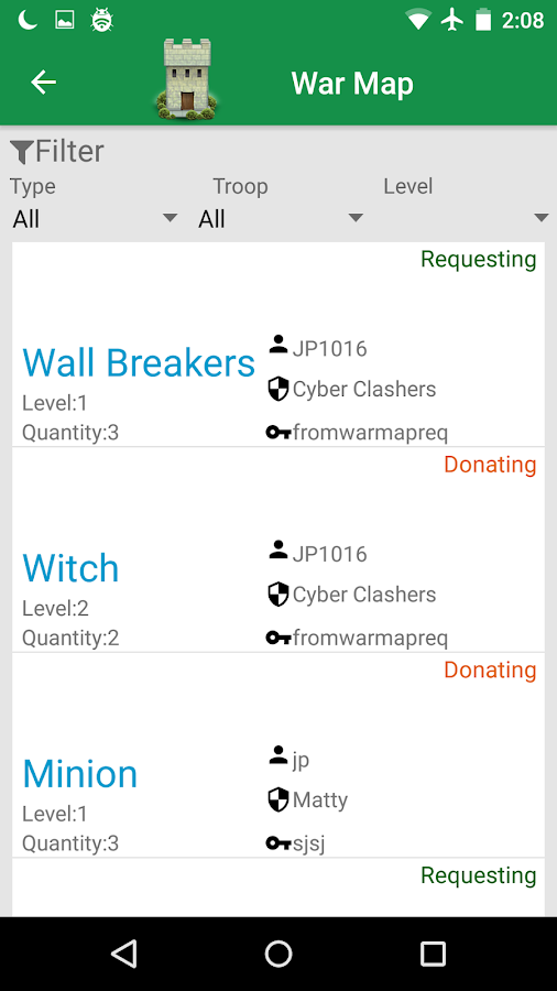 Clan War Manager for COC- screenshot