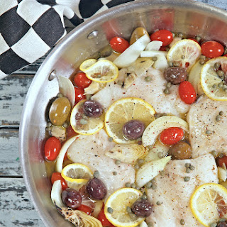 Mediterranean One Pot Wonder White Fish Dinner