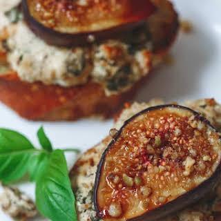 Fig Pistachio Goat Cheese Crostini.