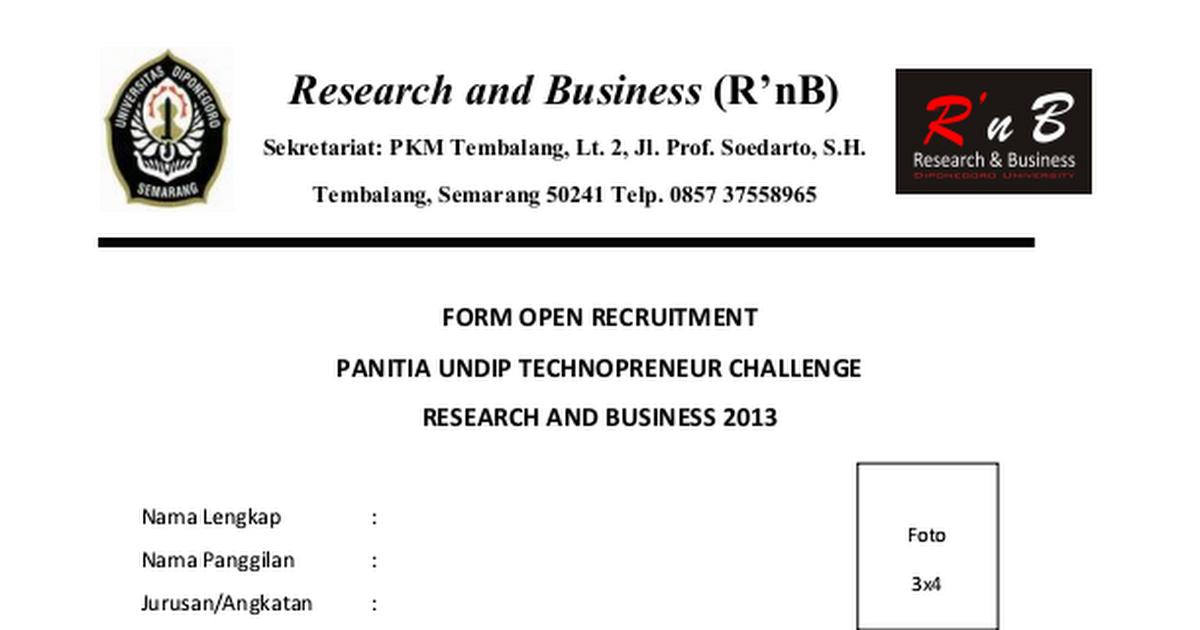 Form Open Recruitment Kepanitiaan Utc Docx Google Drive