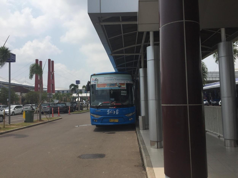 Bus Trans Musi dari Bandara Palembang