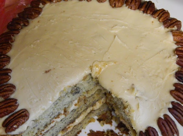 Classic Banana Cake With Caramel Frosting Recipe