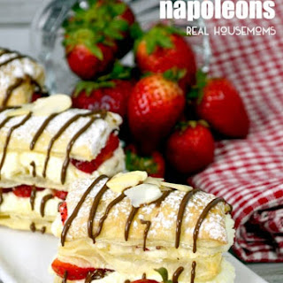 Strawberry Cheesecake Napoleons.