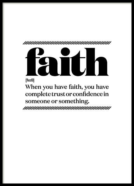 FAITH, POSTER