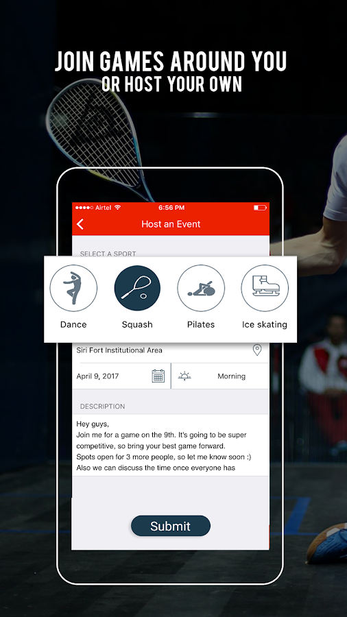 Sportido - Find People & Places to Play Any Sport- screenshot