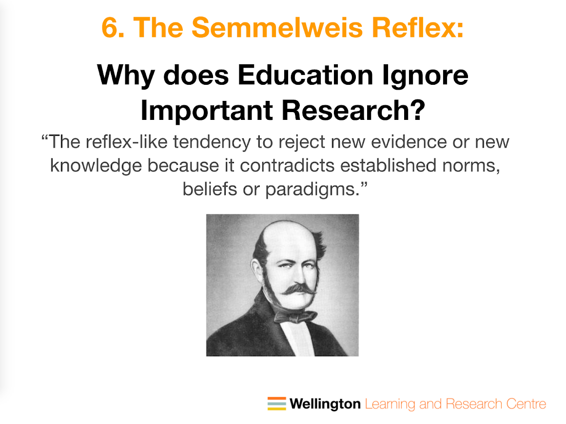 Semmelweis reflex.