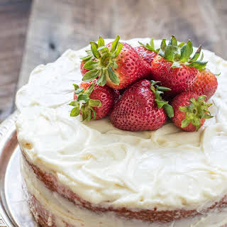 Easy Strawberry Cake with Cream Cheese Frosting.