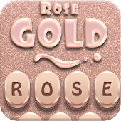 Rose Gold Smart Emoji Keyboard