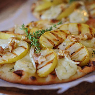 Grilled Apple and Brie Flatbread.