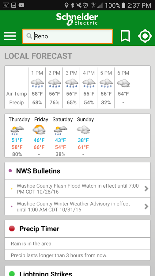 WeatherSentry® SmartPhone- screenshot