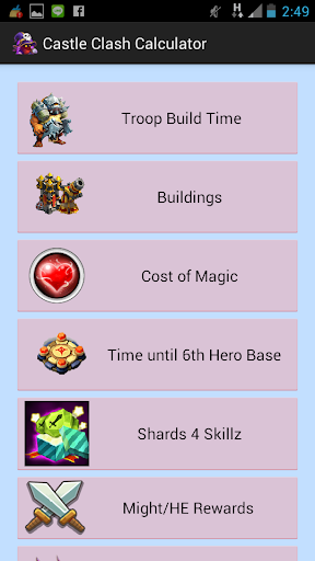 Clash Guide and Calculator