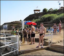 Photo: Мертвое море Потом - обязательное отмывание.