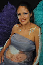 Photo: Creative Pregnant Belly art by Paola Gallardo from http://www.BestPartyPlanner.net