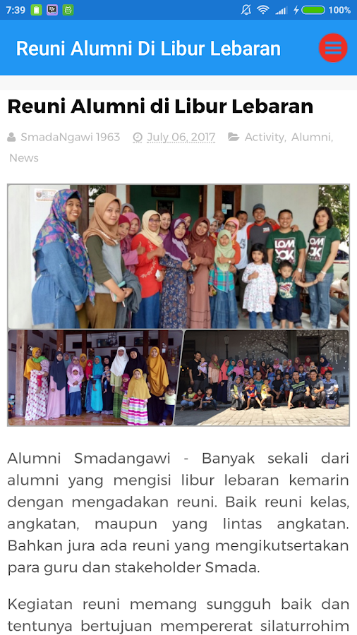 Screenshots of Alumni SMADA Ngawi News for iPhone