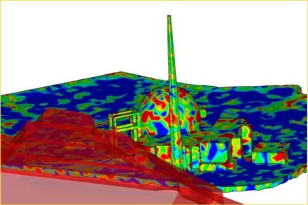 ANSYS - Анализ возможных повреждений конструкции АЭС при внешнем взрыве