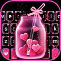 Pink Love Neon Keyboard Theme icon
