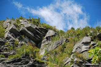 Photo: Gorgeous cliffs at Smugglers' Notch State Park by Linda Carlsen Sperry