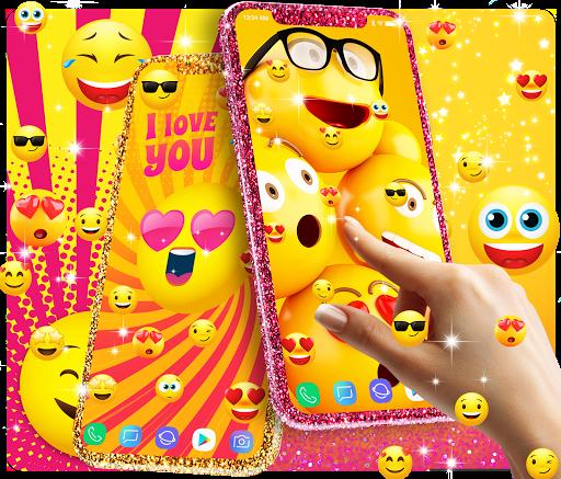 Funny Smiley Face Emoji Live Wallpaper التطبيقات على Google Play