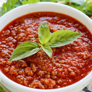 Roasted Tomato Meat Sauce.