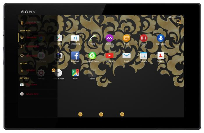 android Gold & Carbon Style Theme Screenshot 8