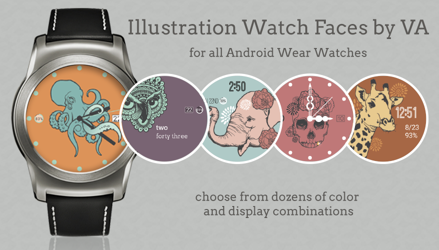Illustration Watch Faces by VA- screenshot