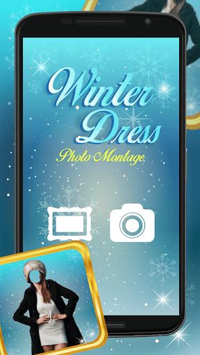 冬季連衣裙 – 照片編輯工具