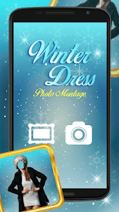 Winter Dress Photo Montage screenshot 0