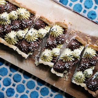 Black and White Tahini Tart Recipe