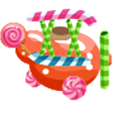 candy airplane icon