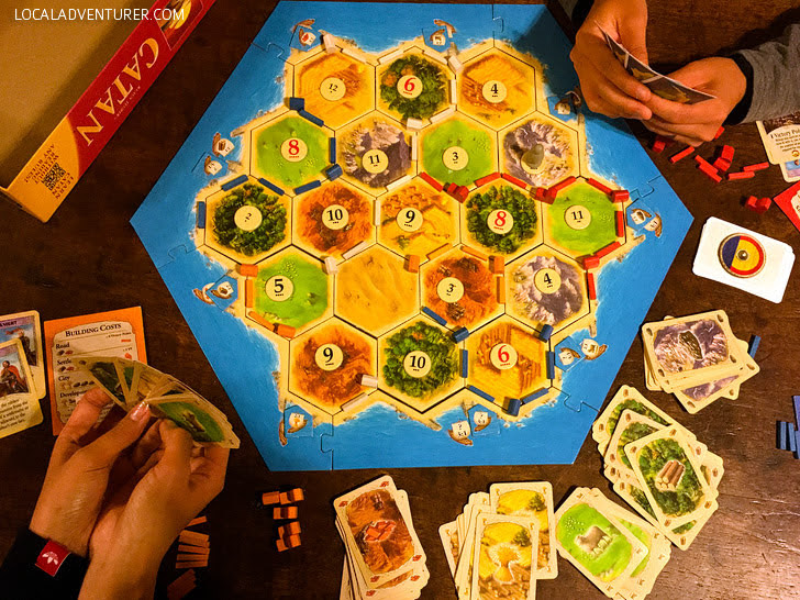 Settlers with Hayoung and Ki Hong.