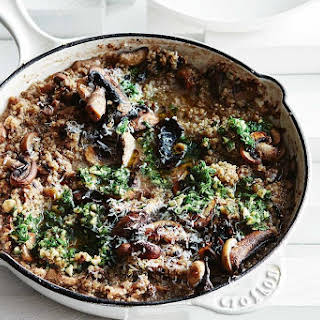 Mushroom Quinoa Risotto With Hazelnut Gremolata.