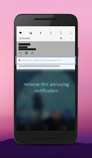 "Hide ""running in the background"" Notification Screenshot"