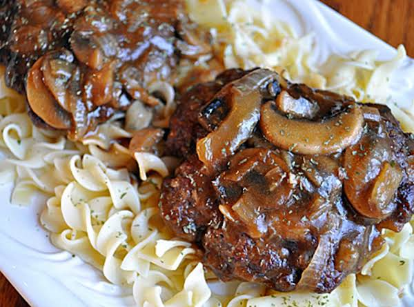 Hamburger Steaks With Mushroom-onion Gravy