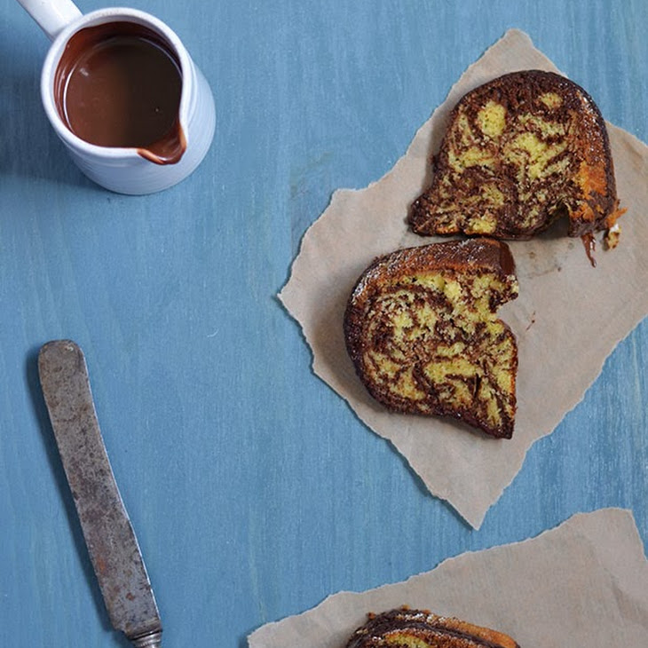 Chocolate and Vanilla Zebra Cake Recipe