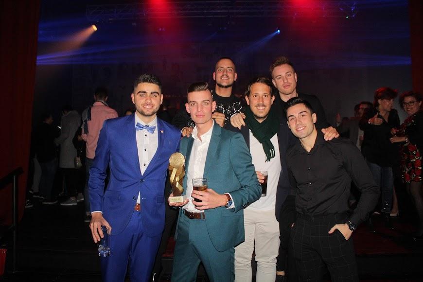 Disfrutando de la celebración de los Premios de la Noche Almeriense.