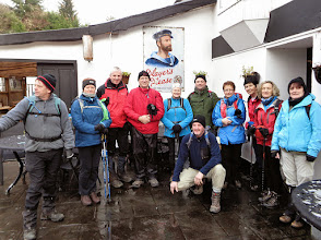 Photo: Group at Ballyvourney before starting out on the next section of the Beara Breifne Way to Millstreet on Saturday, January 17th, 2015.  1 of 9
