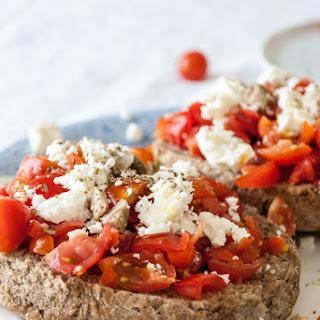 Tomato Loaded Barley Rusks - Greek Dakos.