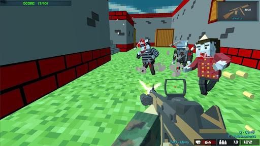 shooting zombie blocky gun warfare screenshot 1