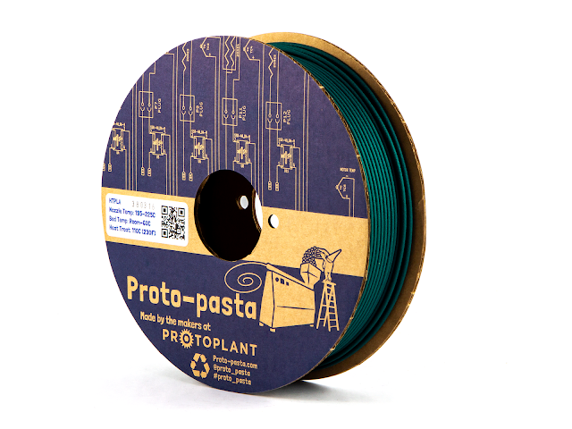 Proto-Pasta Green Matte Fiber HTPLA Filament - 1.75mm (0.5kg)