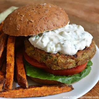 Indian-Spiced Quinoa Chickpea Burgers.